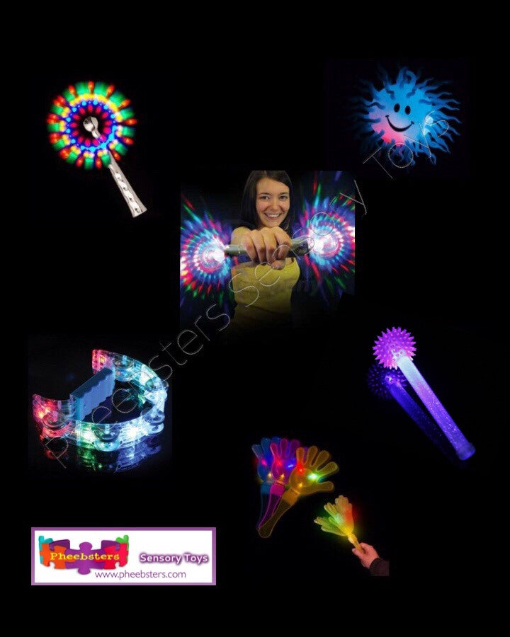 LIGHT UP TOY SET 1 - Pheebsters Sensory Toys - Autism Toys, Special Needs Chews & Fidget Toys - ASD ADHD TOYS UK