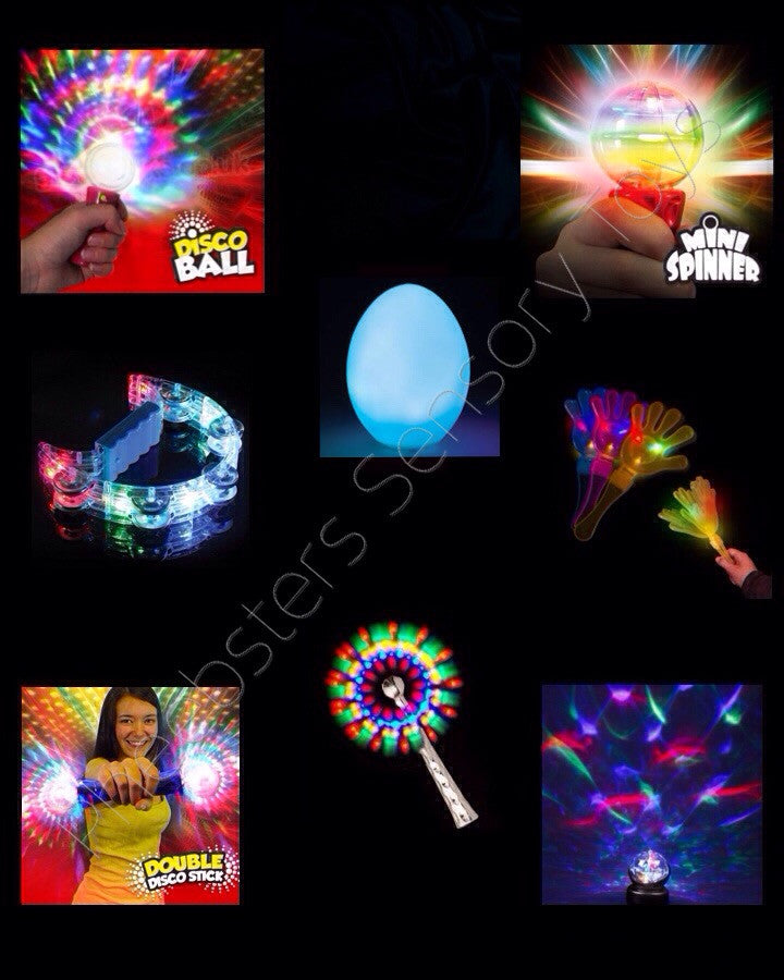 DELUXE SENSORY LIGHT TOY SET - Pheebsters Sensory Toys - Autism Toys, Special Needs Chews & Fidget Toys - ASD ADHD TOYS UK