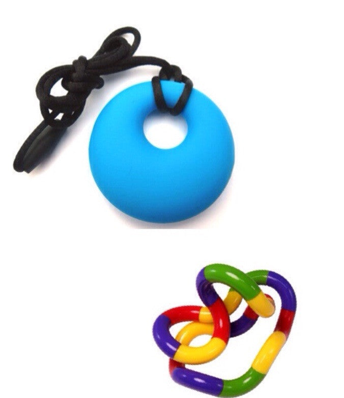 TANGLE TOY JUNIOR & CHEW PENDANT A SET - Circle - Pheebsters Sensory Toys - Autism Toys, Special Needs Chews & Fidget Toys - ASD ADHD TOYS UK