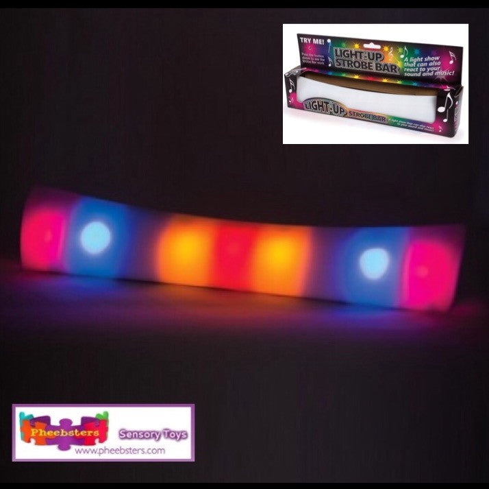 LIGHT UP STROBE BAR - Sound activated light show - Pheebsters Sensory Toys - Autism Toys, Special Needs Chews & Fidget Toys - ASD ADHD TOYS UK