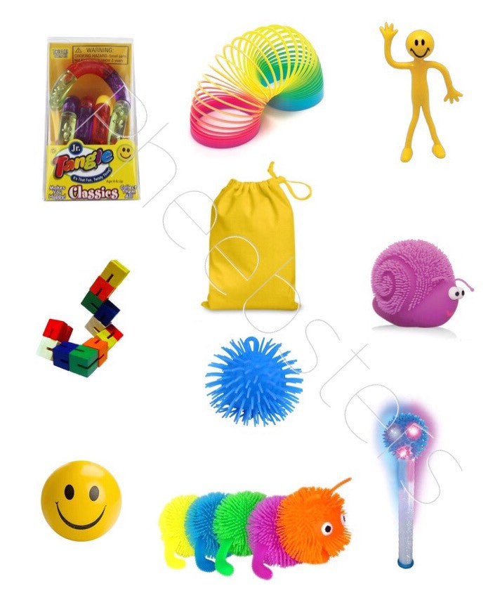 LARGE SENSORY TOY BAG. - (Fidget kit 8 )