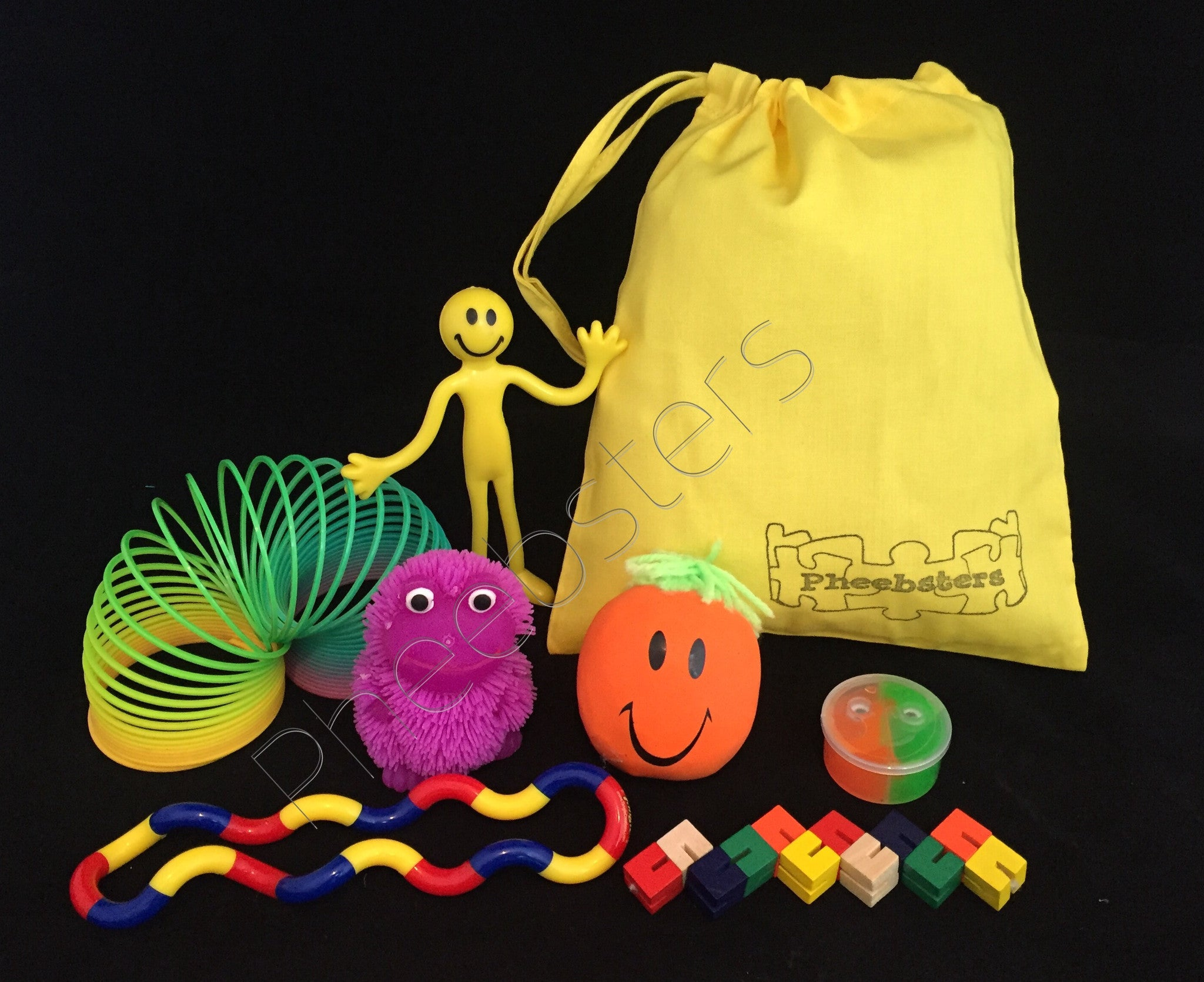 SENSORY TOY TRAVEL BAG - ( Fidget kit 10 ) - Pheebsters Sensory Toys - Autism Toys, Special Needs Chews & Fidget Toys - ASD ADHD TOYS UK