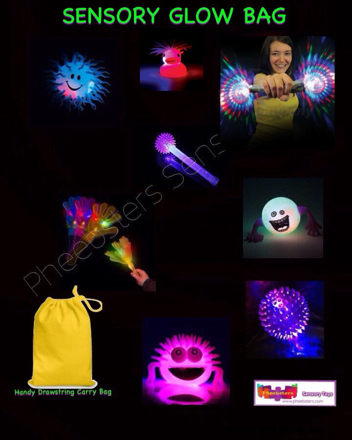 SENSORY LIGHT UP AND GLOW BAG ( Fidget kit 15 )