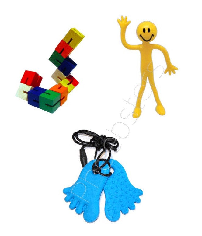 STRESS RELIEF KIT - Feet - Pheebsters Sensory Toys - Autism Toys, Special Needs Chews & Fidget Toys - ASD ADHD TOYS UK