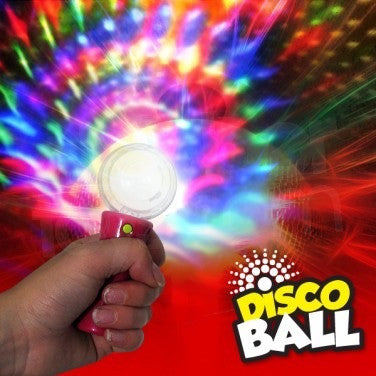 FLASHING DISCO BALL WAND - Light-up disco stick