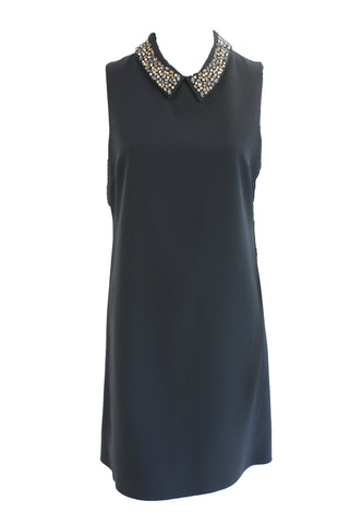 Shift Dress With Jewelled Collar