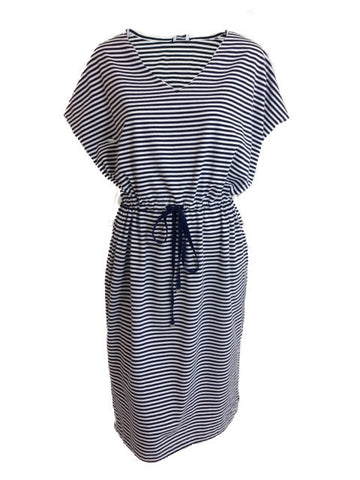 ex Dash Casual Stripe Dress With Draw String Waist
