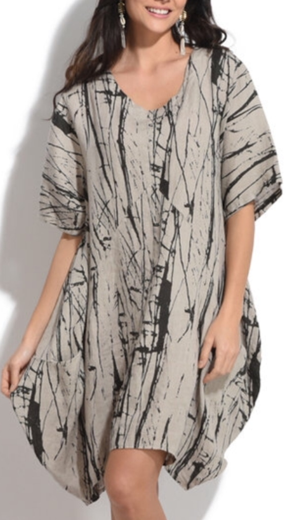 Linen printed dress/tunic