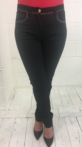 ex Jacqueline Riu Black Stretch Jean