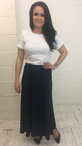 ex M&S Long Navy Skirt