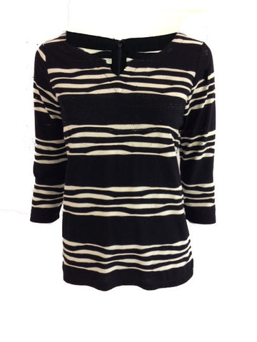 Twisted Black & White Stripe Top