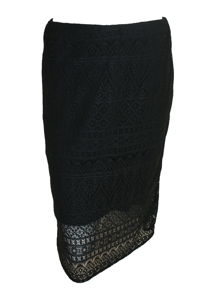 ex Wallis Black Lace Overlay Midi Skirt