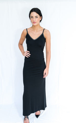 ex Asos Black Maxi Dress