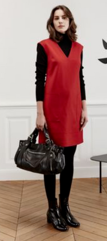 ex Gerard Darel Red A-Line Shift Dress