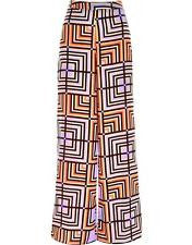 Purple Geometric Print Palazzo Trousers