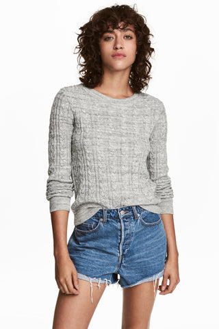 ex H&M Cable Knit Grey Jumper