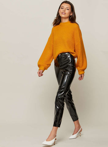ex Miss Selfridge Vinyl Wet Look Trousers