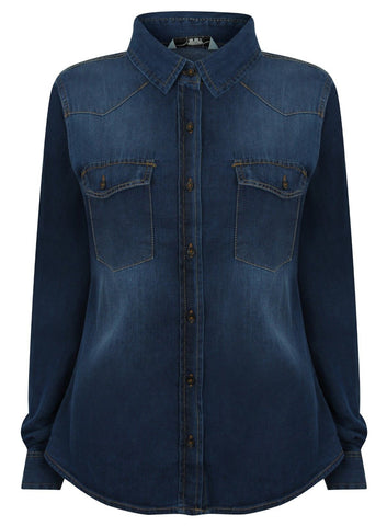 ex New Look Denim long sleeve shirt