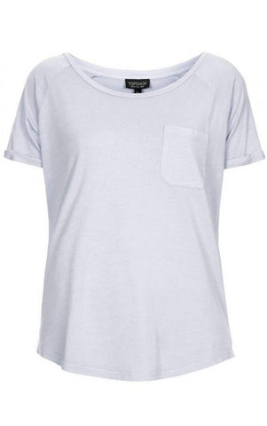 ex Topshop lilac loose fit T-shirt