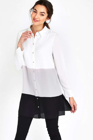 ex Wallis colour block monochrome  shirt