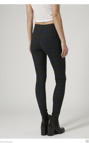 ex Topshop Checked Leggings