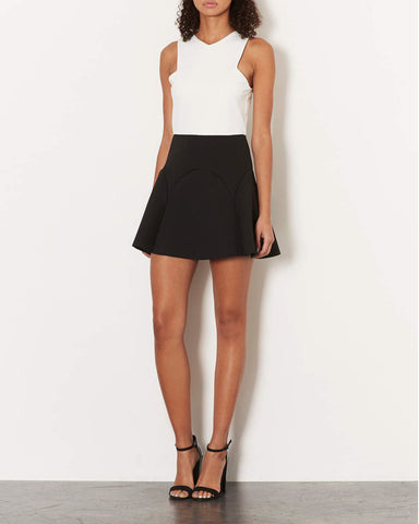 ex Topshop Black Sleeveless Scuba Skater Dress