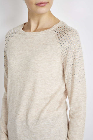 ex Wallis Fine Knit Studded Jumper