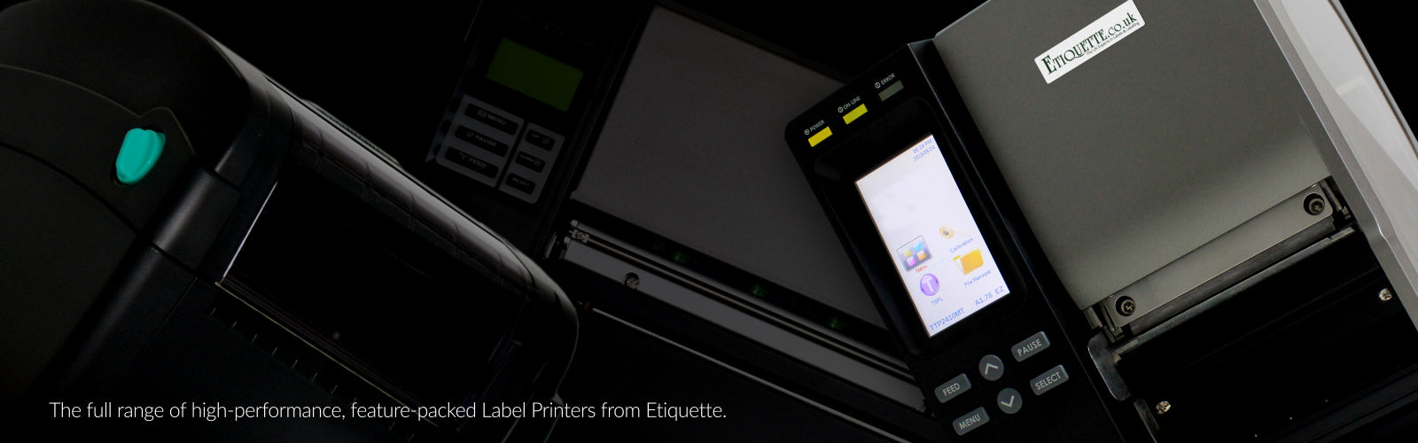 The range of Label Printers from Etiquette