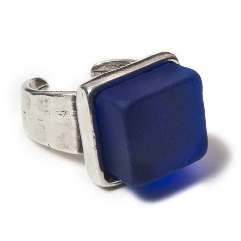 Smartglass Ring— Cobalt with Pewter Adjustable Band