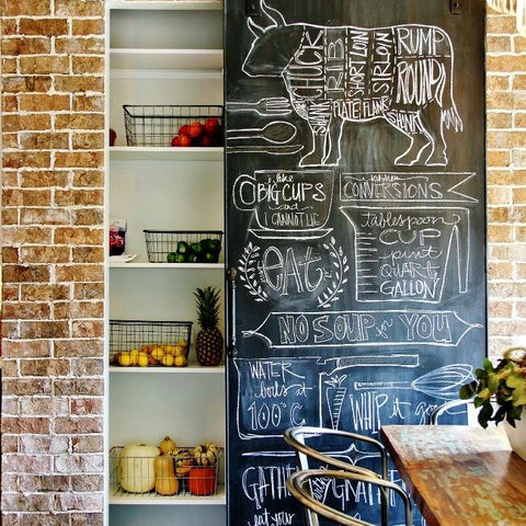 Sliding Chalkboard Barn Door
