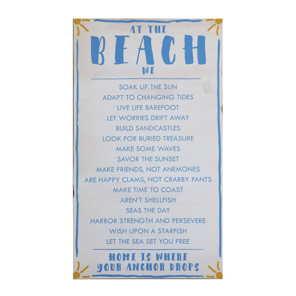 """At The Beach"" Wall Decor"