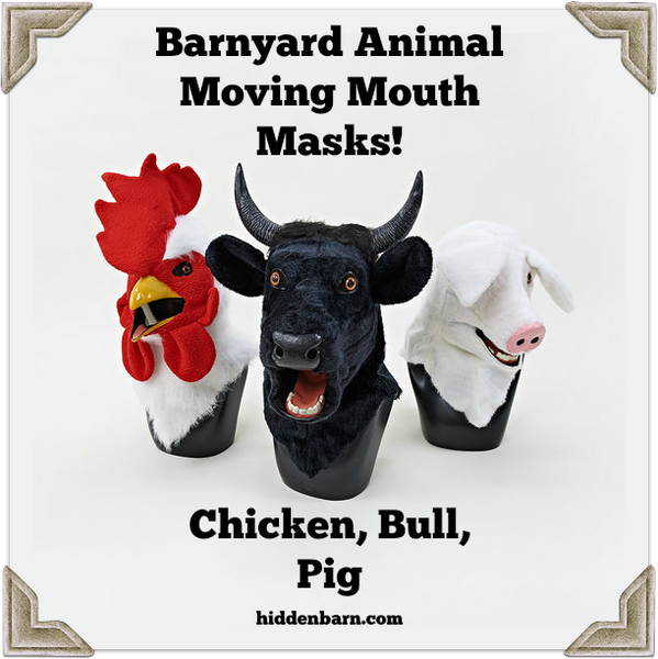 Moving Mouth Farm Animal Masks