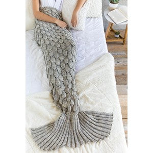 The Mermaid Blanket-Grey
