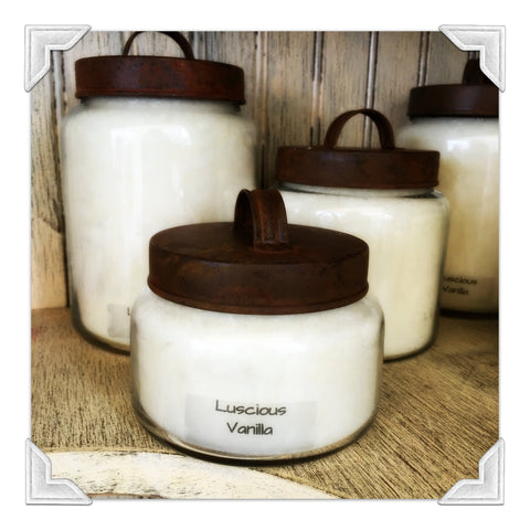 Luscious Vanilla Jar Candle