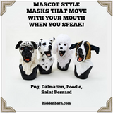 Moving Mouth Dog Masks