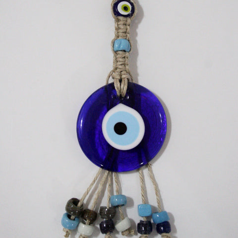 Glass Evil Eye Wall Hanging