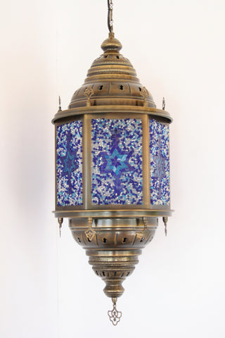 Hexagonal Mosaic Panel Lantern - Bohomio