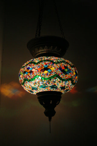 mosaic hanging lamps uk