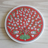 Red Tree of Life Turkish Trivet - Bohomio