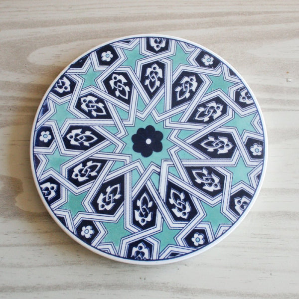 geometric turkish ceramic trivet