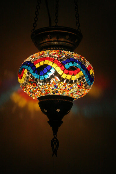 Boho Mosaic Glass Lamp Shade - Bohomio