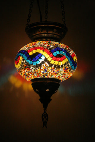 Boho Mosaic Glass Lamp Shade