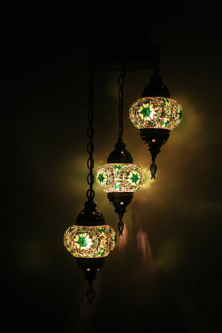 Green Three Piece Turkish Light