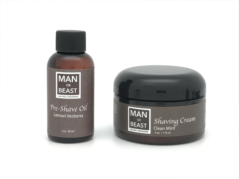 Pre-Shave Oil and Shave Cream Kit