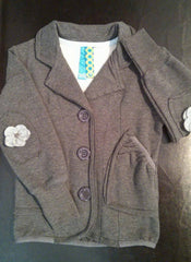 Blu - Fleece Button-Up Blazer