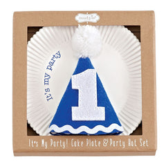 Mud Pie Cake Plate and Party Hat Set