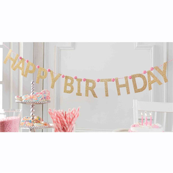 Mud Pie - Glitter Birthday Banner