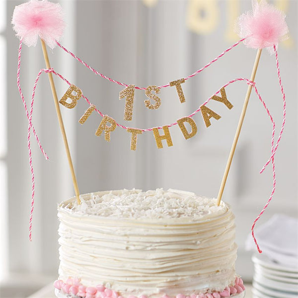 Mud Pie 1st Birthday Cake Topper