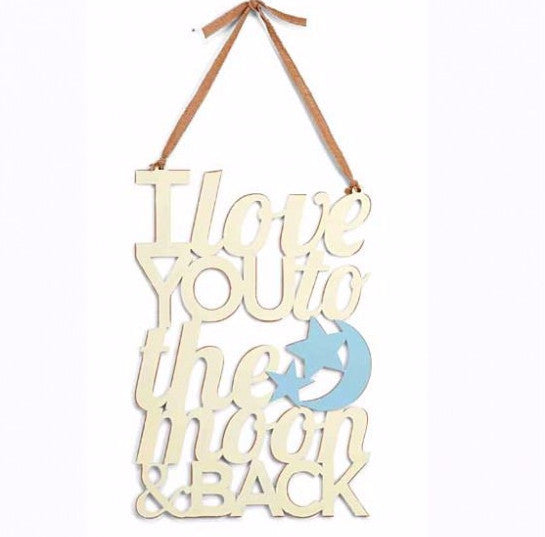 Mud Pie - Blue Moon & Back Word Sign