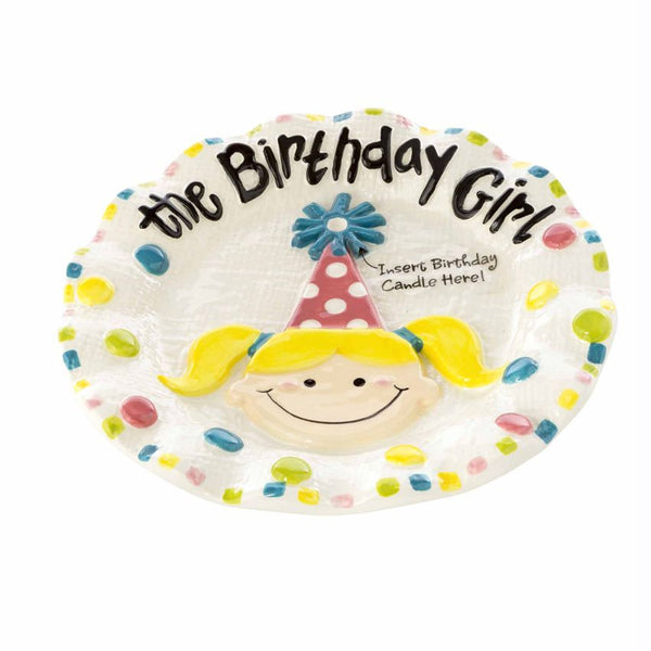Mudpie - Birthday Girl Plate